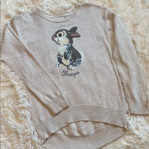 Girl's Gap Disney Thumper Tunic Sweater 🐰